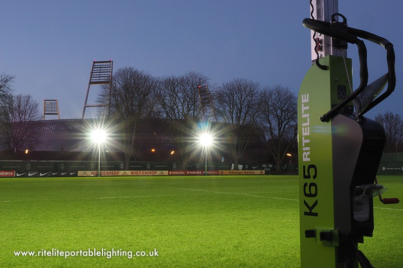See Our Temporary Sports Lights In Action & Temporary Sports Lighting - RiteLite Portable Lighting - 01780 758585 azcodes.com