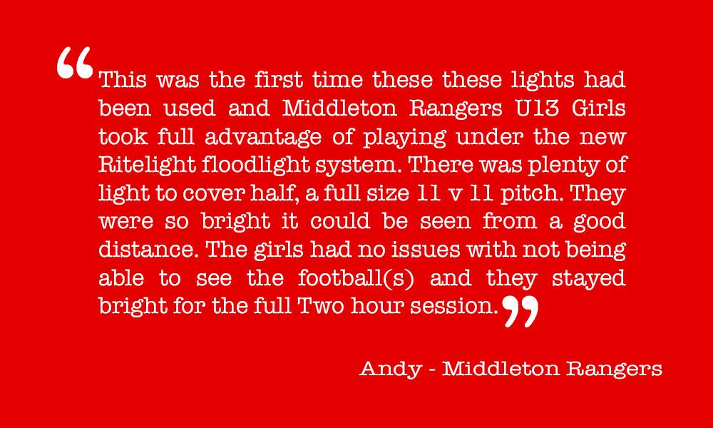 Testimonial - Andy, Middleton Rangers
