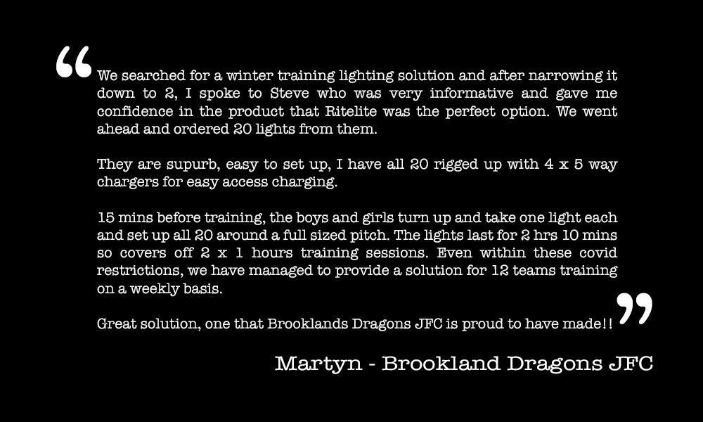 Testimonial - Martyn, Brookland Dragons JFC