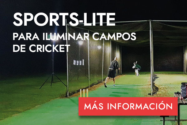 SPORTS-LITE PARA ILUMINAR CAMPOS DE CRICKET -MÁS INFORMACIÓN