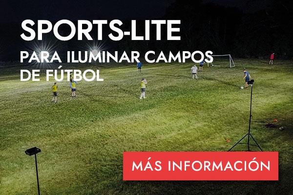 SPORTS-LITE PARA ILUMINAR CAMPOS DE FÚTBOL -MÁS INFORMACIÓN