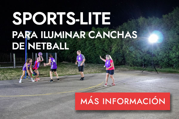 SPORTS-LITE PARA CANCHAS DE NETBALL -MÁS INFORMACIÓN