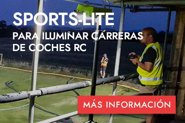 SPORTS-LITE PARA ILUMINAR CARRERAS DE COCHES RC - MÁS INFORMACIÓN