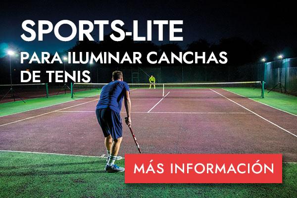 SPORTS-LITE PARA ILUMINAR CANCHAS DE TENIS - MÁS INFORMACIÓN