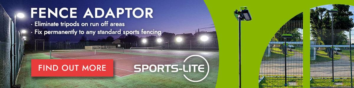 Sports-Lite Fence Adaptor banner